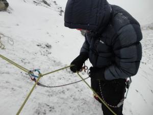 Training in Island peak base camp