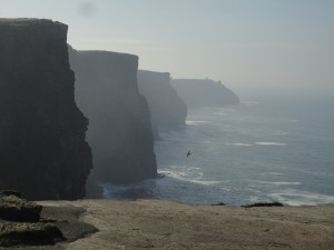Hiking along the Cliffs of Moher