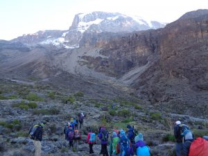 The Barranco valley on Kilimanjaro