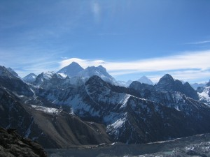 The view of Everest from Goyko Ri