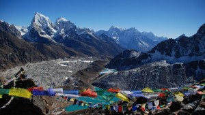 View above the Gokyo lake