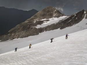 Training climb on Mt. Elbrus