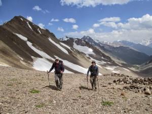 Heading over the Irikchat pass