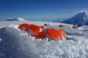 The view out from Camp 3 on Denali