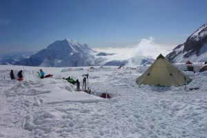 Camp 3 at 14200 feet on Denali