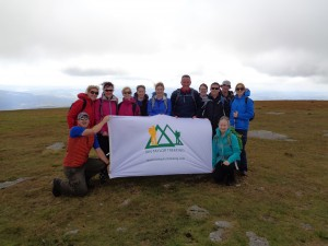 On top of Lugnaquilla in Wicklow
