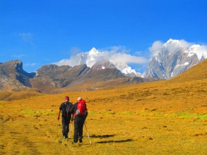 Colorful Huayhuash circuit trek