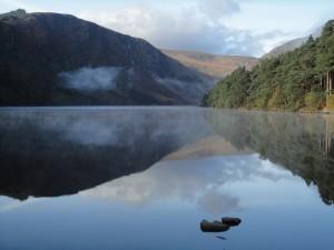 The upper lake in Glendalough