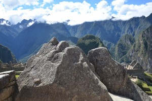Carved rocks at Machu Picchu