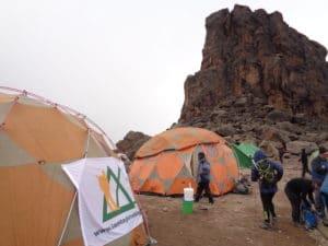 The Lava Tower on Kilimanjaro