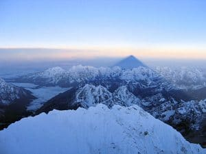 The Shadow cast by Mount Everest