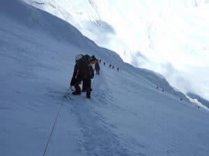 High on the Lhotse Face