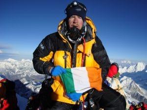 On the Summit of Mount Everest