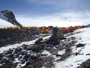 Tents on the South Col of Mount Everest