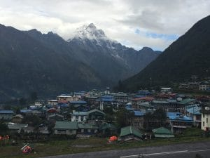 View of Lukla and the runway