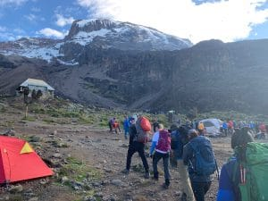 Moving up to the Barranco Wall on Kilimanjaro
