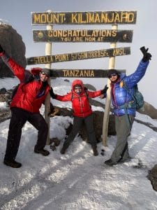 Heading back down Kilimanjaro and reaching the Stella Point