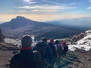 Beautiful views on the way down Kilimanjaro