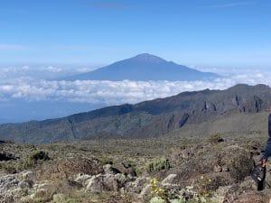 Mount Meru from Kilimanjaro