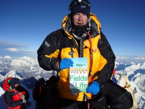 Ian Taylor on the summit of Mount Everest