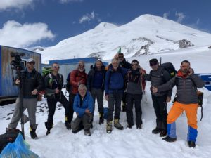 Mount Elbrus from the Huts at 3,900m