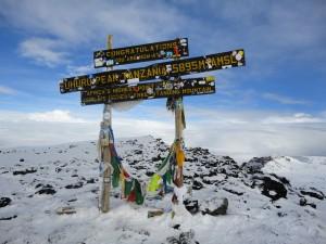 The top of Kilimanjaro
