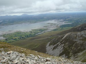 High on Croagh Patrick in Ireland
