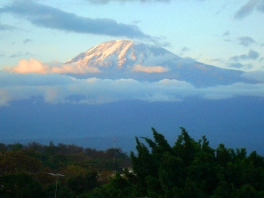 Mount Kilimanjaro from Moshi