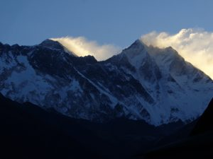 High winds on Mount Everest