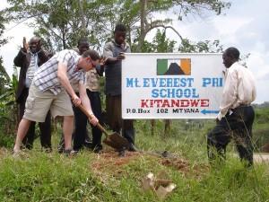 School opening Kitandwe March 2009