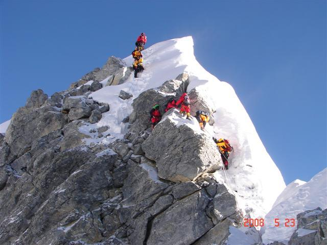 Ian Taylor on the Hillary Step 2008.