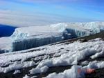 Glacier high on Kilimanjaro