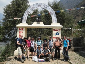 The start of the Everest trail