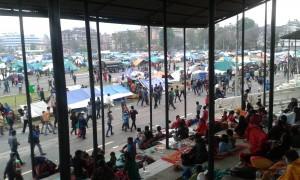 Big refugee camp in Kathmandu