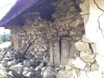 Wall damage in Goli