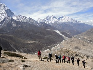 Heading back towards Dingbouche from Everest Base Camp