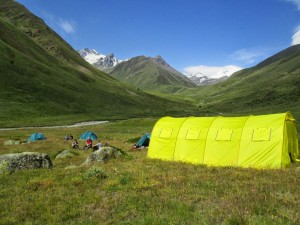 Camp 2 on your Elbrus acclimaatization