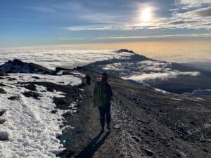 The crater rim of Kilimanjaro
