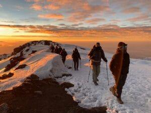 Sunrise high on Kilimanjaro