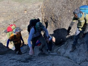 Some Scrambling on the Barranco Wall