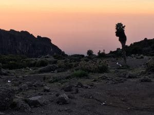 Kilimanjaro sunset in the Barranco Camp