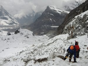 Moving up to Mera Peak Base Camp