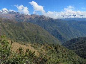 Stunning views on the Inca Trail to Machu Picchu