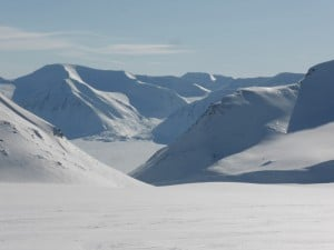 The maze of mountains on Svalbard