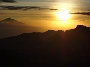 Sunset on the Shira plateau