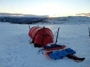 Polar tents used in Norway