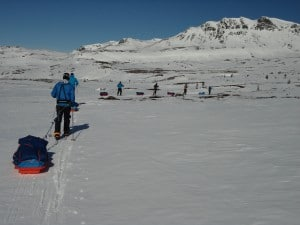 Moving across different mountain terrain in Norway