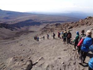 Coming down Kilimanjaro to Kosovo Camp