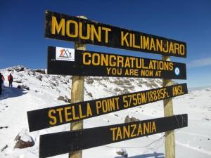 Stella Point on Kilimanjaro