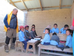 Children back in the classroom in Goli
